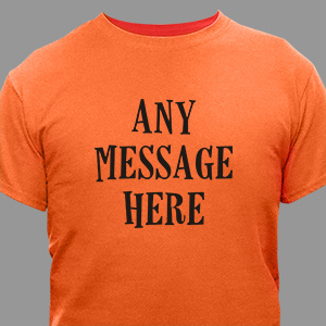 Custom Message Halloween T-Shirt