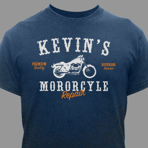 Personalized Motorcycle Repair T-Shirt