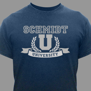 Family University T-Shirt | Personalized Shirts