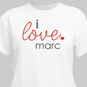 Personalized I Love You T-Shirt