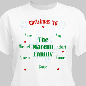 Personalized Christmas Family Reunion T-shirt