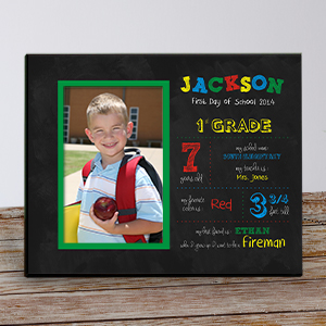 Personalized His First Day of School Frame