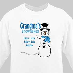 Snowflakes Sweatshirt | Personalized Christmas Shirt