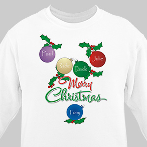 Merry Christmas Sweatshirt | Personalized Christmas Shirt