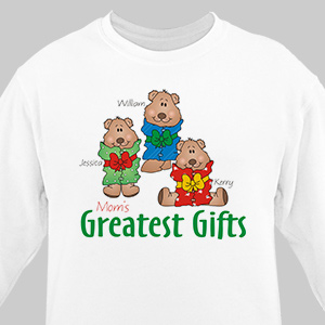 Greatest Gifts Personalized Sweatshirt | Personalized Christmas Shirt