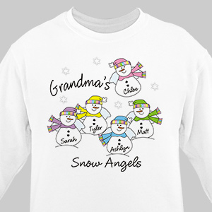 Snow Angels Sweatshirt | Personalized Christmas Shirt