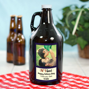 Personalized No. 1 Dad Growler