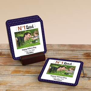 No. 1 Personalized Coaster Set