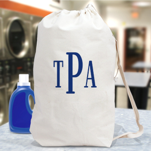 Block Monogrammed Laundry Bag 6867772