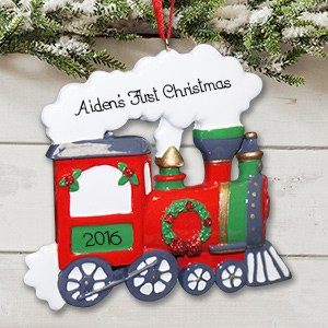Personalized Train Ornament