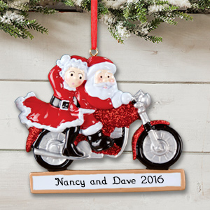 Mrs. Claus and Santa Personalized Christmas Ornament