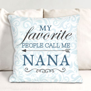 Personalized My Favorite People Throw Pillow for Her 830112473