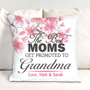 Personalized Promoted to Grandma Throw Pillow | Personalized Mom Pillows