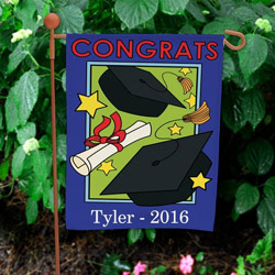 Personalized Grad Garden Flag