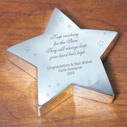 Personalized Graduation Silver Star Keepsake