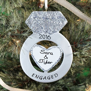 Personalized Engagement Ring Ornament 860763