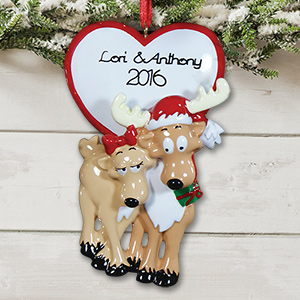 Personalized Reindeer Couple Ornament 861273