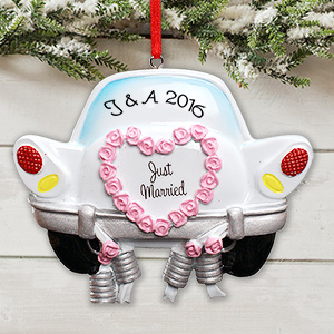 Personalized Just Married Ornament