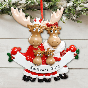 Personalized Moose Family Ornament 879283X