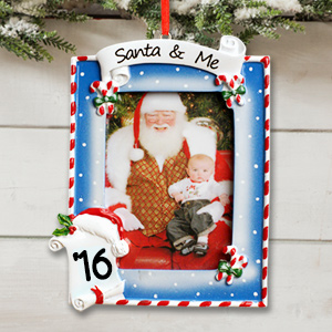 Personalized Santa and Me Photo Ornament