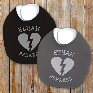Heartbreaker Personalized Bib | Personalized Baby Gifts