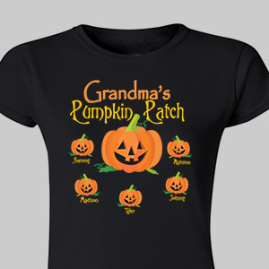Personalized Pumpkin Patch Womens T-Shirt