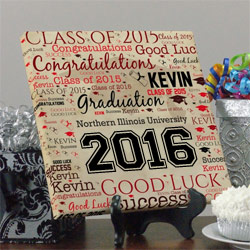 Graduation Word-Art Canvas