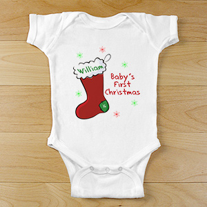 Personalized First Christmas Infant Apparel | Baby's First Christmas Gifts
