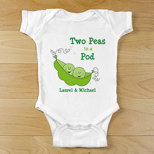 Two Peas in Pod Twin Baby Bodysuit | Twin Baby Bodysuits