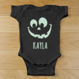 Halloween Glow In The Dark Infant Creeper | Personalized Halloween Onesies
