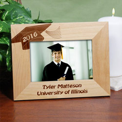 Graduation Engraved Wood Photo Frame