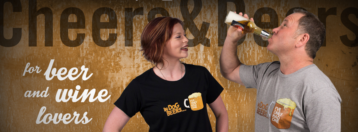 Beer & Wine Gift Pocket T-Shirts by Powches