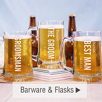 Barware and Flasks for Groomsmen
