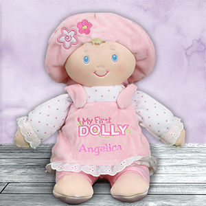 Personalized My First Dolly | Unique Baby Shower Gifts