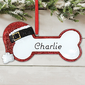 Red Santa Bone Ornament M989343