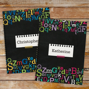 Personalized Letters Notebook - Set of 2