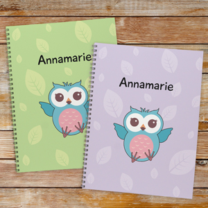 Personalized Owl Notebook - Set of 2