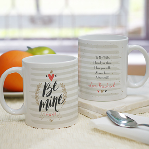 Personalized Be Mine Coffee Mug | Personalized Valentine Mugs