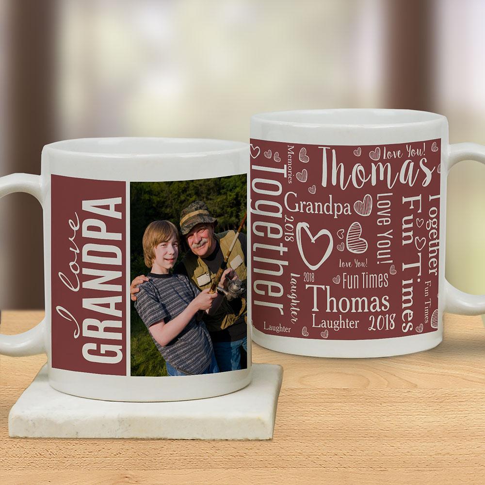 Personalized We Love Photo Word-Art Mug | Photo Mugs