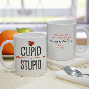 Personalized Cupid Is Stupid Mug | Personalized Valentine's Mug