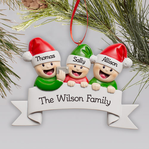 Personalized Family Selfie Ornament | Personalized Family Ornaments