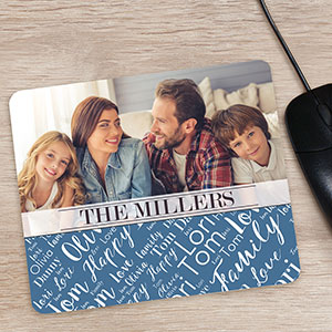 Personalized Family Photo Word-Art Mouse Pad 8121839