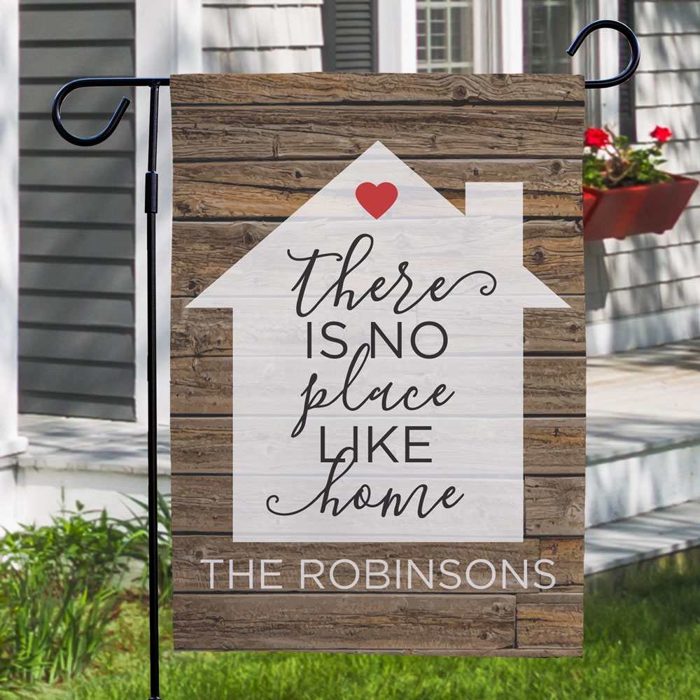 There is No Place Like Home Garden Flag | Personalized Housewarming Gifts