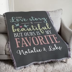 Love Story Afghan | Personalized Blanket For Valentines