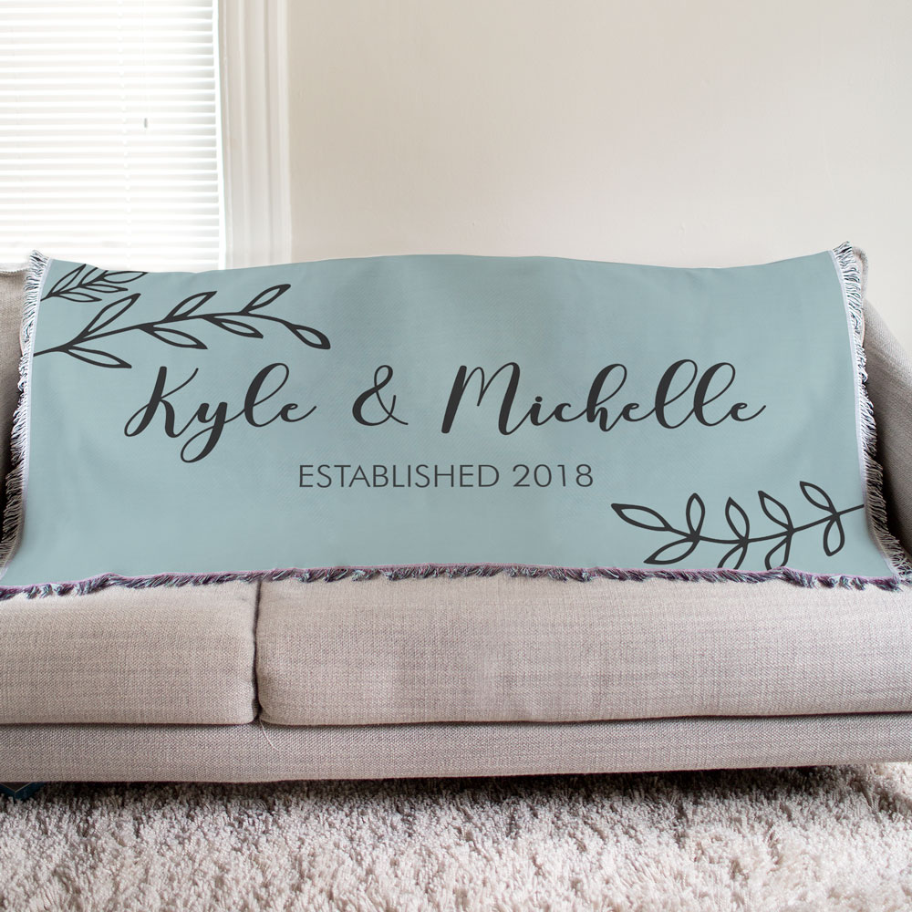 Personalized Couples Established Tapestry Throw | Personalized Blankets for Valentines Day