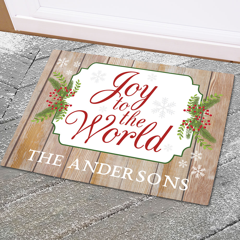 Personalized Joy To The World Doormat | Personalized Doormats