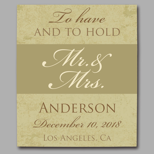 Personalized To Have And To Hold Wedding Canvas | Personalized Couple Gifts