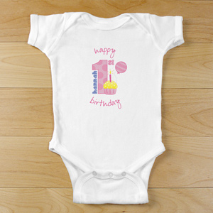 Baby Girl's 1st Birthday Infant Creeper