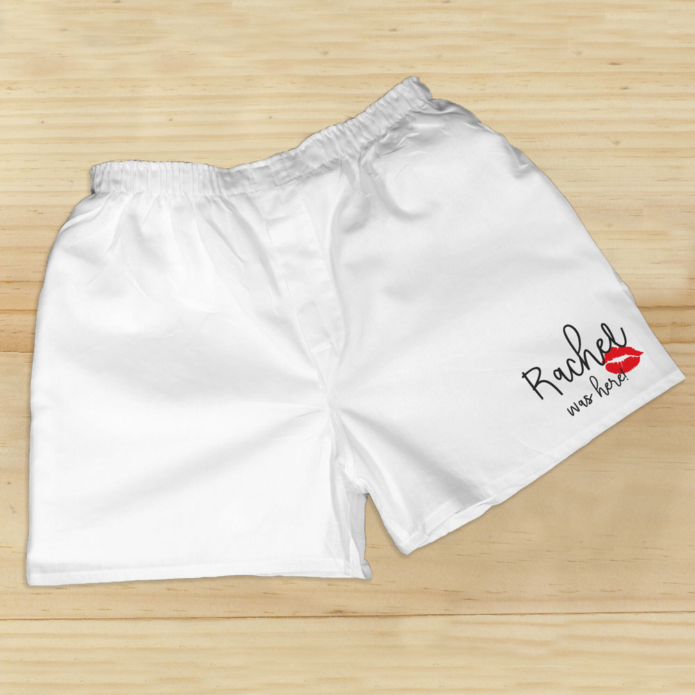 Personalized I Was Here Boxers | Personalized Valentine's Gifts For Him