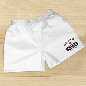 Personalized Property Of With Heart Boxers | Personalized Boxer Shorts